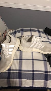 White and gray adidas nmd shoe Oakville