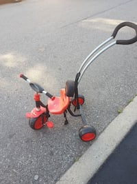 red and grey push trike