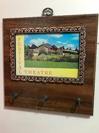 photo of Festival Theatre with brown wooden frame Montreal