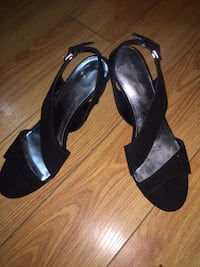 black open-toe ankle strap heels 1963 km