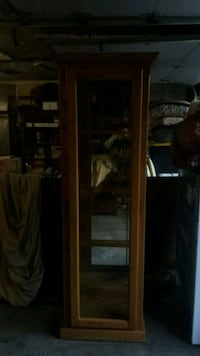 brown wooden framed glass display cabinet Port Orchard, 98367