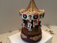 Vintage style Christmas horse carousel/merry go round music box-animated Madison, 35758
