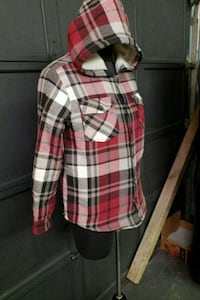 white, red, and black plaid small jacket  Courtice, L1E 2N4