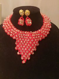 red and white beaded necklace New Westminster, V3M