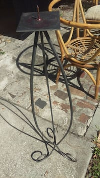 Tall iron pedestal candle holder Orlando, 32806