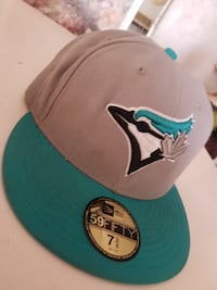 white and teal New York Yankees fitted cap TORONTO