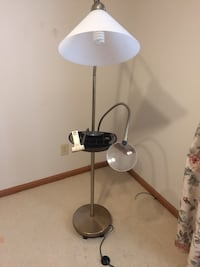 Gold floor lamp with black tray Wichita, 67218