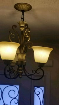brown and white uplight chandelier Brampton, L7A 1X5