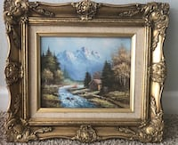 ART WINTER SCENE OIL-PAINTING  DECORATIVE FRAME Herndon, 20171