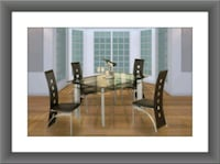 Glass dining table with 4 chairs Pikesville, 21208