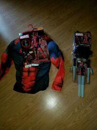 NEW MEN'S DEADPOOL COSTUME & WEAPON SET Fountain Inn, 29644
