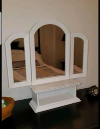 shabby chic convertible mirror and cubby