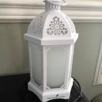white and gray table lamp Paynton