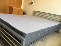 white and black bed mattress LONDON