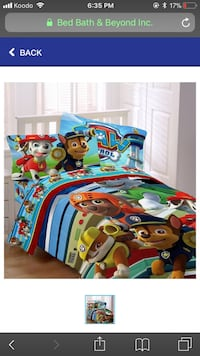 Paw Patrol bedding and accessories  London, N6E 2V7