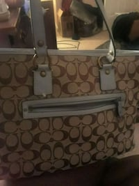brown and gray Coach monogram tote bag Centreville, 20120