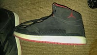 unpaired black and red Air Jordan basketball shoe Windsor