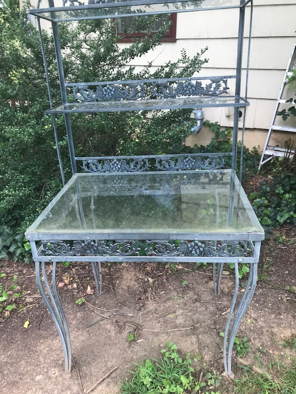 Antique Art Deco outdoor flower plant stand table