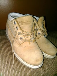 pair of brown Timberland work boots Schenectady, 12303