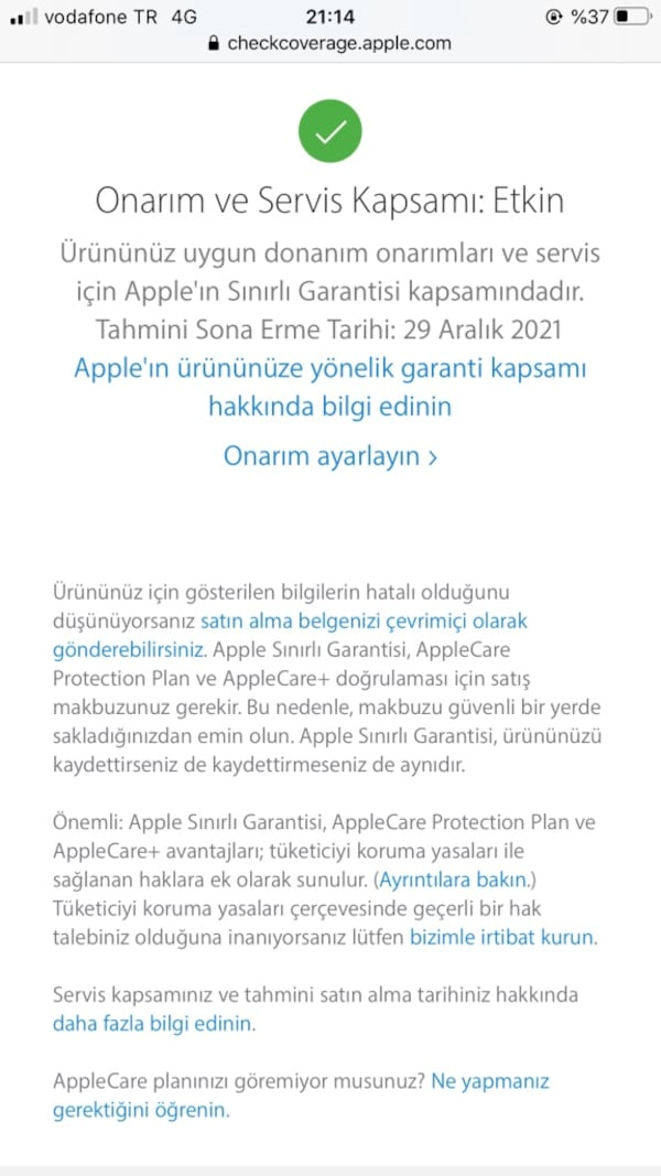 İphone 7 plus 15 ay garantili 6