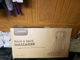 Neck & back massager with vibrating seat and heating