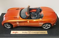 orange Dodge Concept Vehicle scale model 2178 mi