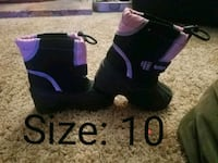 Snow boots pink & black