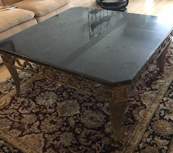 Large real granite coffee table Montréal