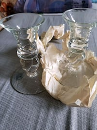 Toscany handblown glass candle holders