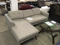 gray fabric sectional sofa with ottoman Hopkins, 55343