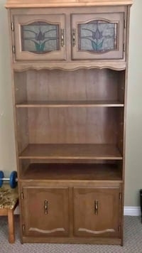 "Very nice cabinet approx 85"" tall with removable crown 37.5"" wide and 15.5"" deep Surrey, V3V 7L9"