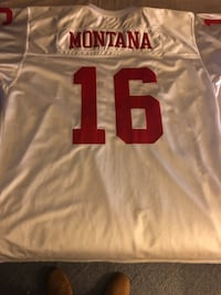 Throwback Joe Montana Mitchell and Ness size 56 how can you beat that price..... Baldwin, 21013