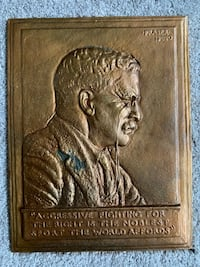 Theodore Roosevelt Metal Plaque - Fight for Whats Right Hanover, 21076