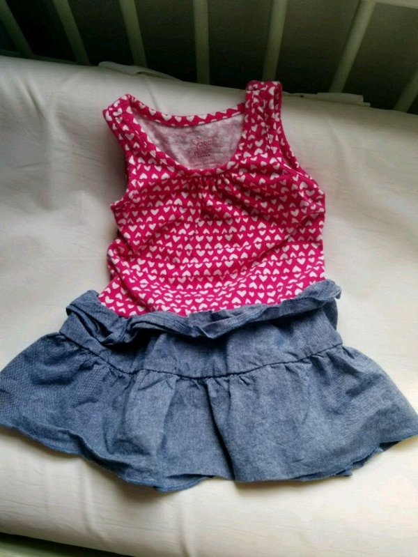 e0e42d49061 Used Pink top with jean bottom dress for baby for sale in Douglasville -  letgo