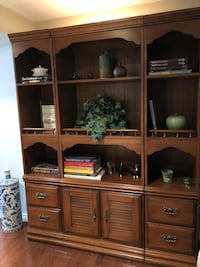 brown wooden display cabinet with shelf Whitchurch-Stouffville, L4A 3H7