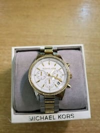 round silver Michael Kors chronograph watch with silver link Virginia Beach, 23453