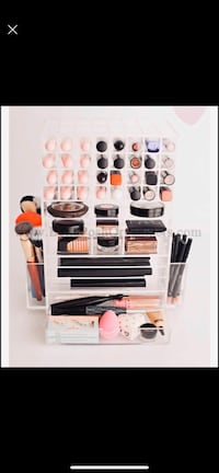 Cosmetics Rotating Beauty Organizer with Drawer