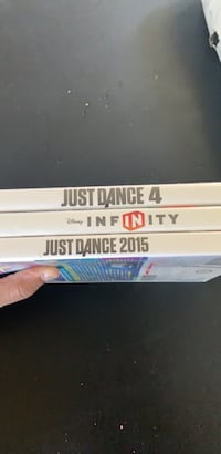 Wii Games : Just Dance 4/2015 and Disney Infinity+Characters.