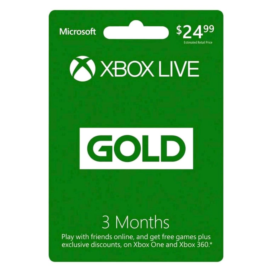Unused Xbox Live card 3 months