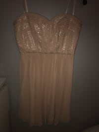 Size 8 Beige/pink tube dress Mississauga, L5R 3J2