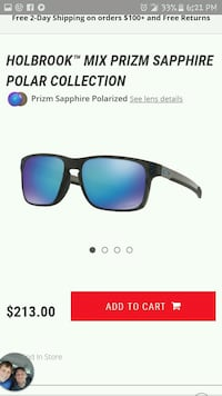 black and blue HOLBROOK mix prizm sapphire polar sunglasses screenshot Hampton, 32044