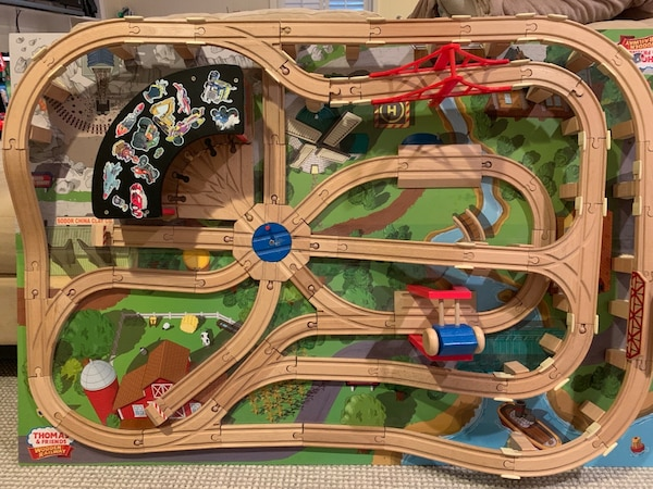 Thomas the Train Table and Trains and Melissa and Doug Activity Table