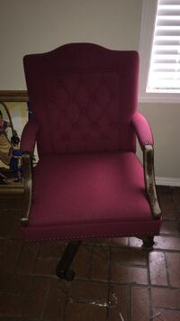 red and brown wooden frame armchair Jackson, 39209