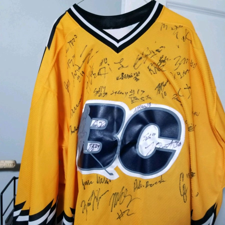 BC Hockey Jersey Signed with number