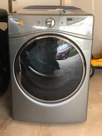 Gray front-load clothes washer and dryer combo. 2 separate appliances. Chantilly, 20151