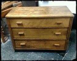 Early Century Ash Dresser / Vintage Chest Of Drawers