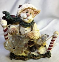 Boyds Christmas Cat Mr. Claws & Suds Freeze Dried North Pole Laundry Day Oklahoma City