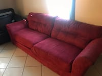 red fabric 3-seat sofa Weslaco, 78596