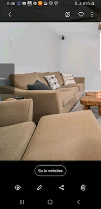 Oversized couch and love seat/ ottoman