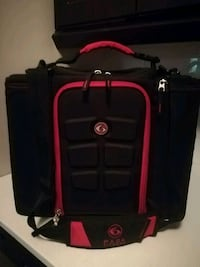 black and red luggage bag Hamilton